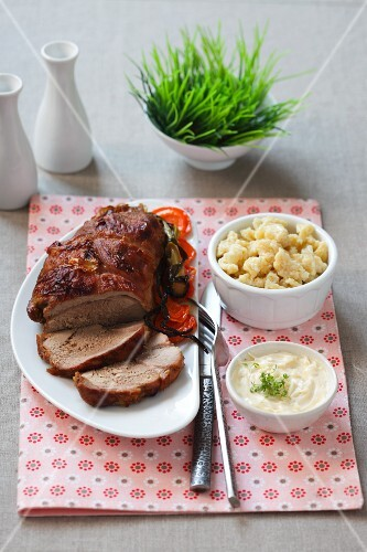 Roast veal with ravioli