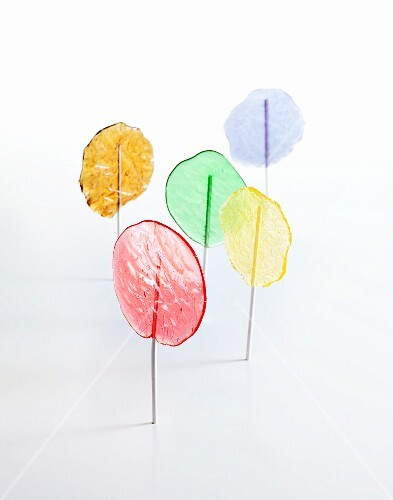 Homemade coloured lollies