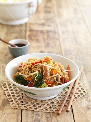Noodles with pork (China)