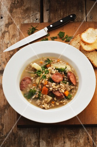 Barley soup with sausage (Germany)