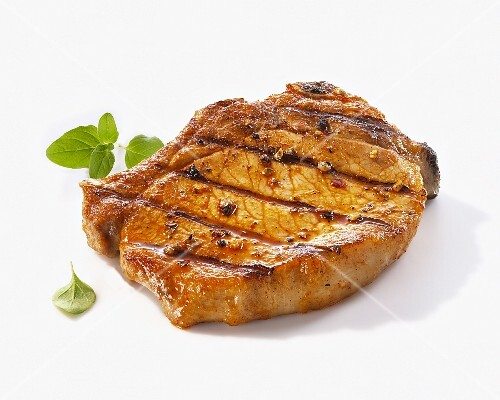 A grilled pork chop