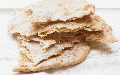 A stack of crispy unleavened bread