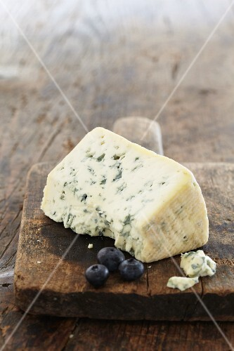 Blue cheese and blueberries
