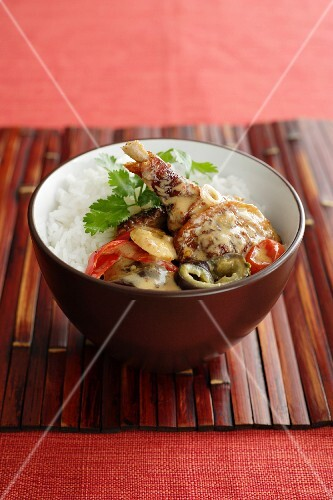 Duck curry with rice (Asia)