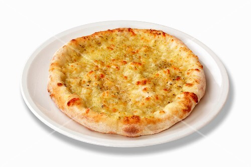 A cheese pizza