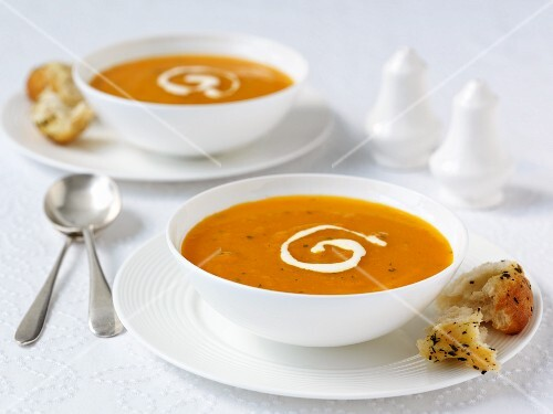 Carrot Soup with Sour Cream
