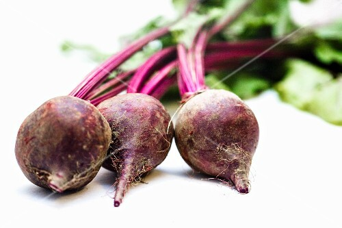 Three Whole Fresh Beets