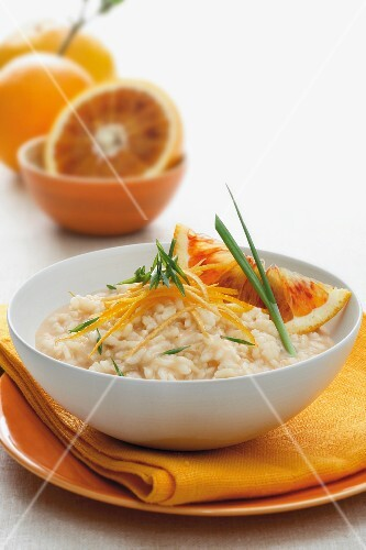 Risotto agli agrumi (risotto with citrus fruits, Italy)