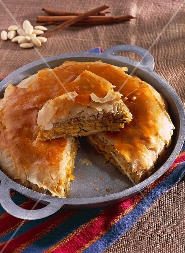 Pastilla with almonds and cinnamon (Morocco)