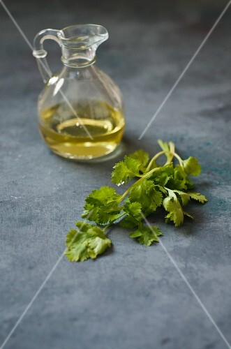 Coriander and olive oil