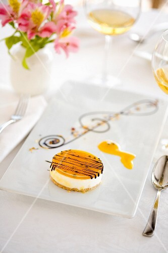 Passionfruit cheesecake