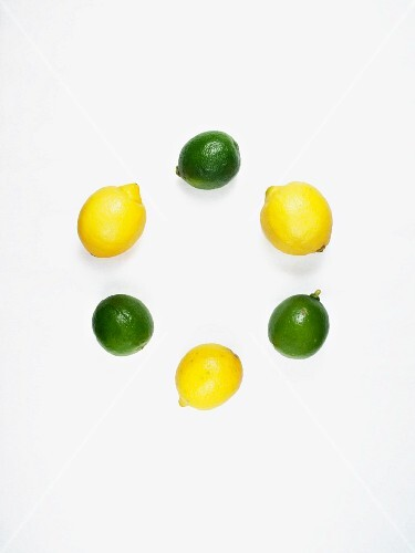 A circle of limes and lemons