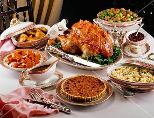 Traditional Thanksgiving dinner (USA)