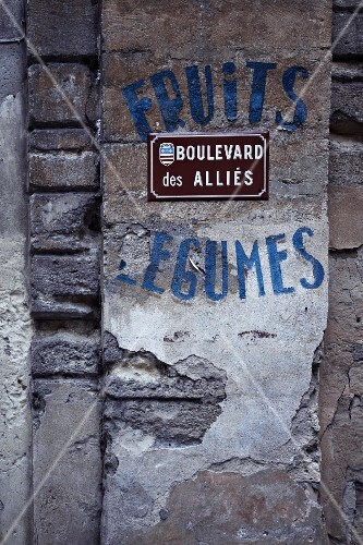 A street sign in France