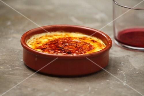 Crema catalana in small dish