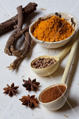 A Variety of Spices, Fresh, Whole and Ground
