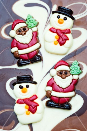 Chocolate snowmen and Santa Clauses