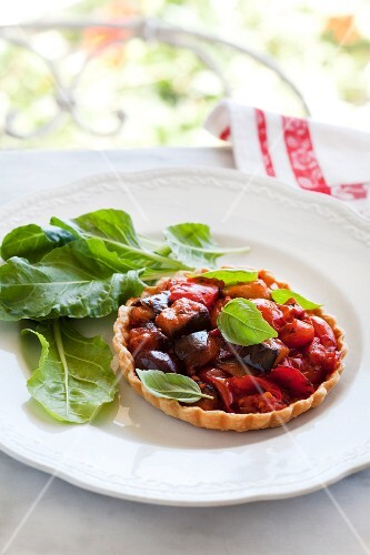 Tartlet with ratatouille