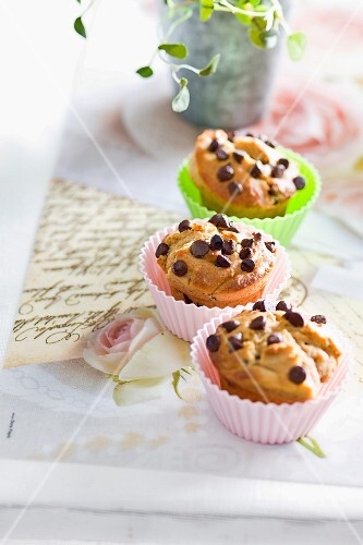 Peanut butter muffins with chocolate chips