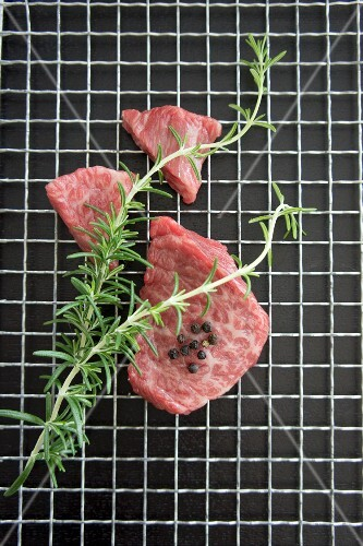 Wagyu beef with rosemary and peppercorns