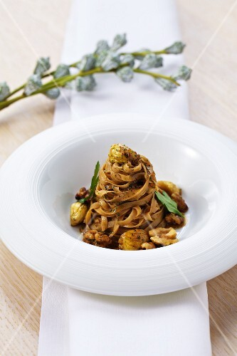 Tagliatelle with chestnuts