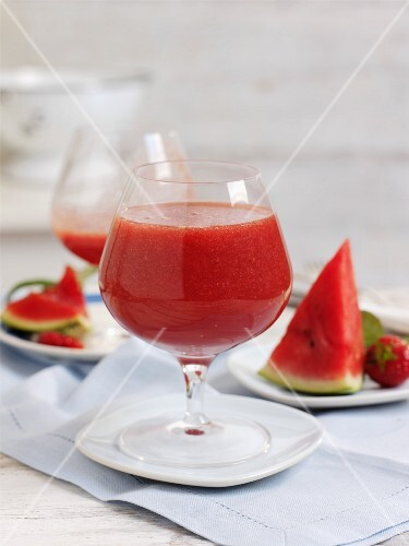 Strawberry and melon drink