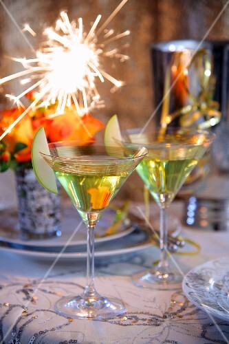 Apple martinis for New Year's Eve