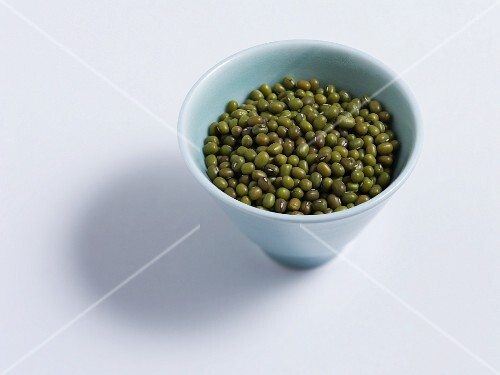Green soya beans in a bowl