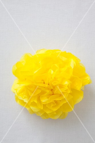 Yellow paper pompom