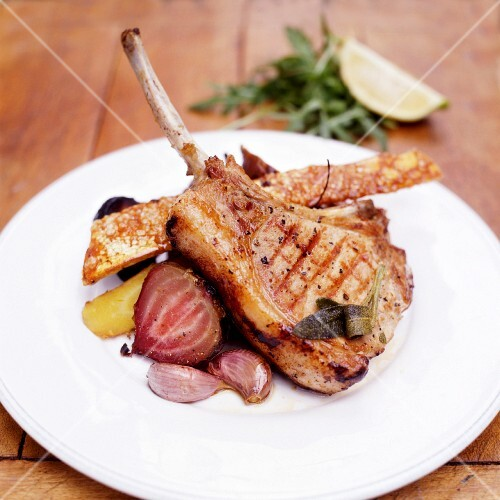 Pork Chops with Turnips and Carrots