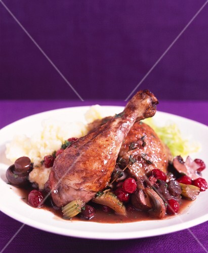 Chicken with shiraz and cranberries