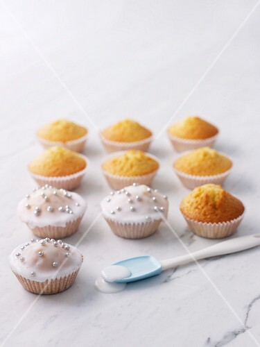 Cupcakes with sugar icing
