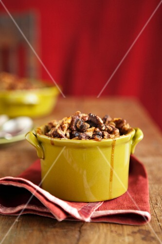Individual Serving of Gluten Free Apple Crisp Baked in a Ramekin