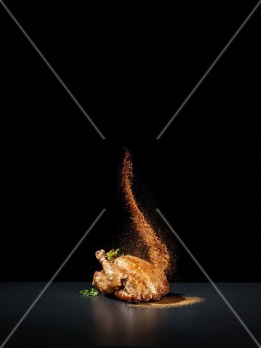 Roast chicken with a splash of spices
