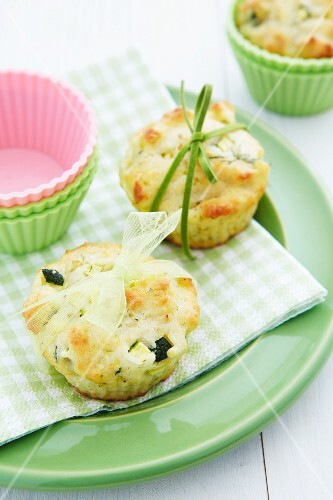 Two courgette muffins