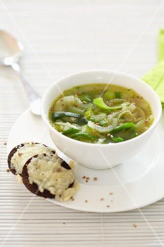 Onion and leek soup