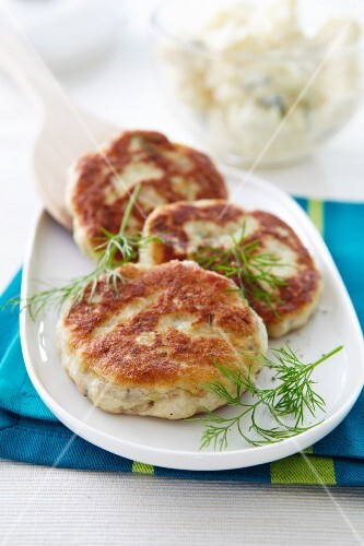 Cod fishcakes with dill