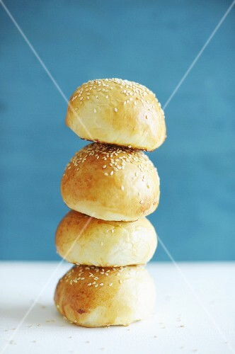 A stack of sesame rolls