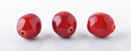 Three cranberries