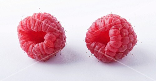 Two raspberries (close-up)