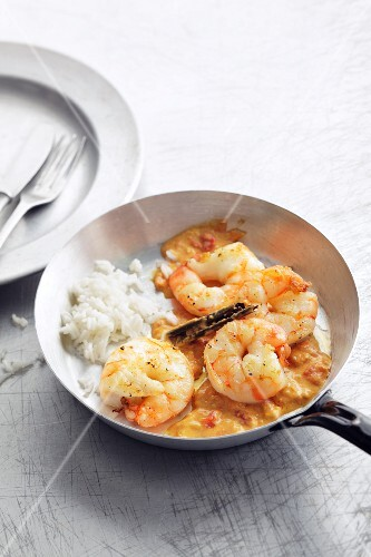 Prawn curry with coconut (Asia)