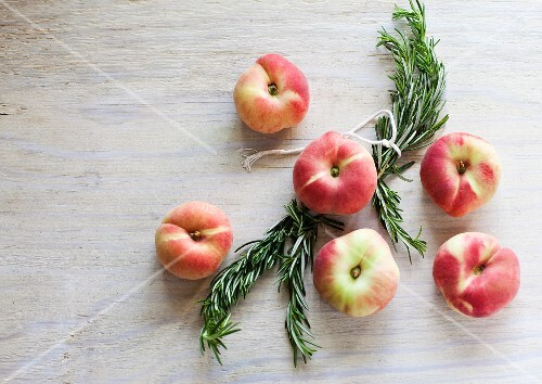 Saturn Peaches with Rosemary