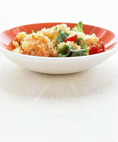 Couscous salad with prawns