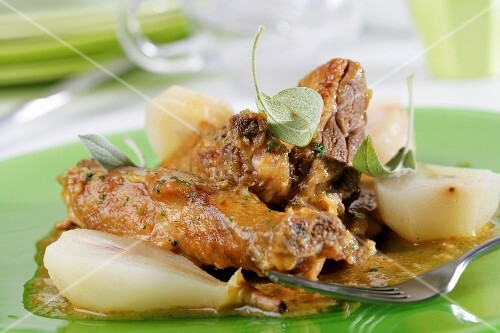 Duck with pears (catalana)
