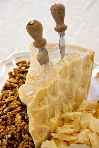 Parmesan and nuts, Italy