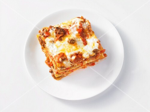 A portion of lasagne