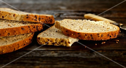 seeded whole grain bread slices
