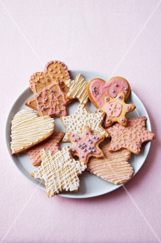Assorted Christmas cookies on a plate