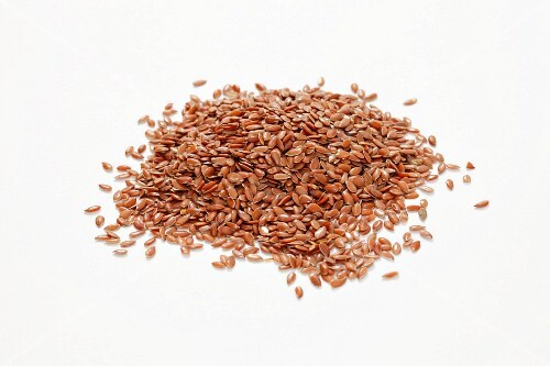 Pile of Flax Seeds, Close Up