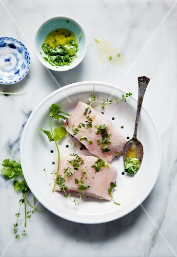 Marinated cod fillets